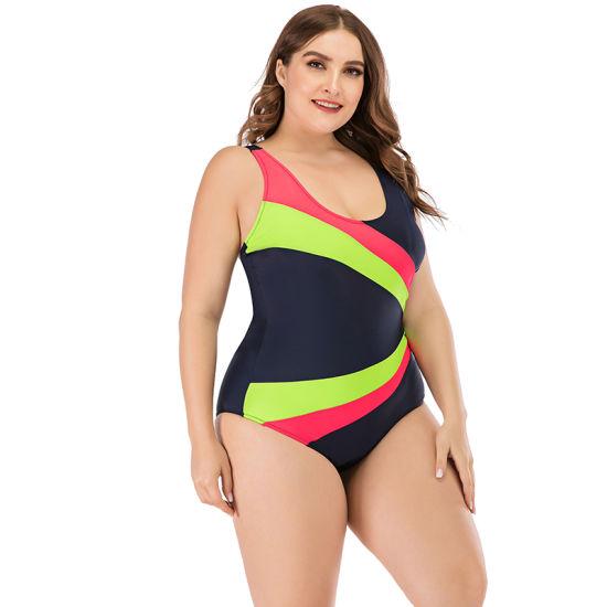 2021 New Arrival Plus Size Swimwear Women Sportive One Piece 5XL Swimsuit