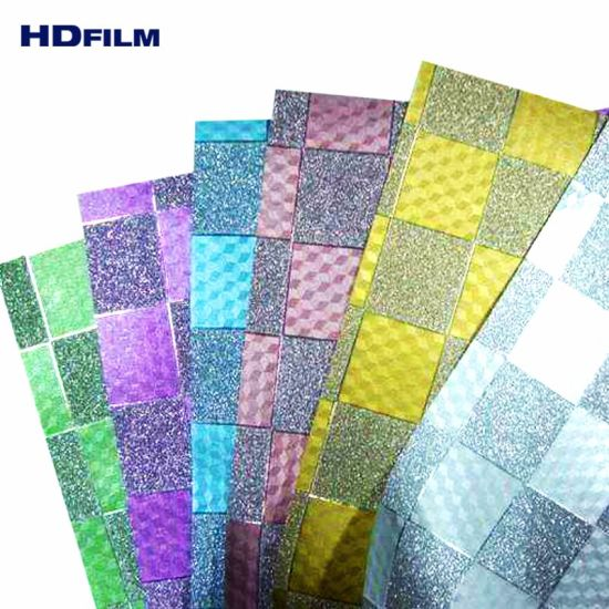 China Various Colors Laminated Glitter Film CPP for Decoration