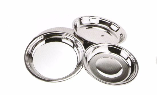 Stainless Steel Kitchenware Oval Tray in Round Design Sp009