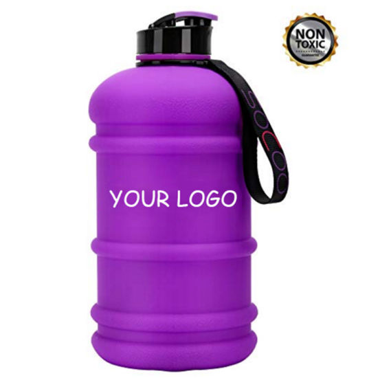 Large Drinking Bottle Sports Water Bottle 2.2L with Easy Carry Handle Gym Bottle