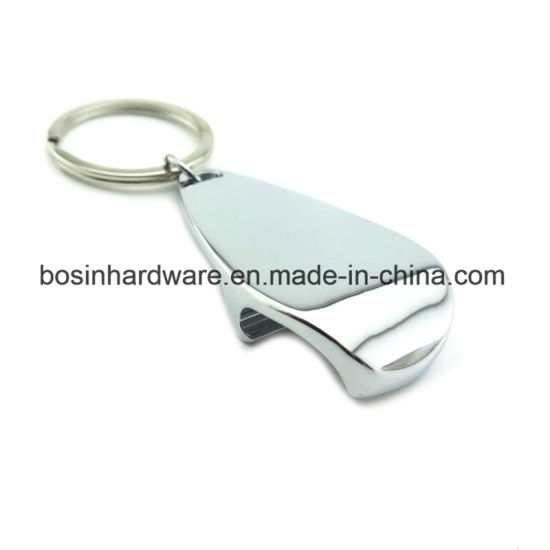 Simple Metal Bottle Opener Keychain for Printing Logo pictures & photos