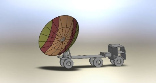 6 2m Parabolic Foldable Vehicle-Mounted Rxtx Satellite Dish Antenna