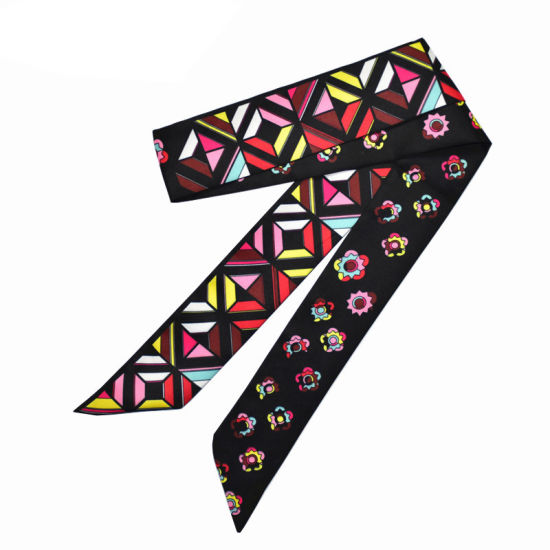 c2b5e5703a9 China New Brand Scarf Small Floral Silk Scarf for Women Geometric ...