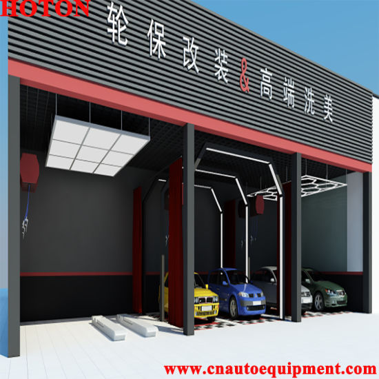 Provide Car Workshop Design 3D Rendering All Auto Maintenance Equipment