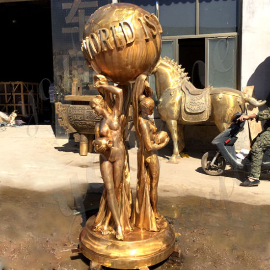China Full Size Bronze The World Is Yours Statue For Sale - China