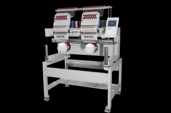 Wonyo 2 Heads High Speed Cap/Flat/Garment Computerized Embroidery Machine for Sale