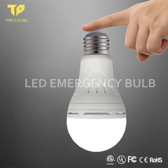 China Factory AC/DC 7W 9W 12W 18W B22 E27 Battery Working Rechargeable Back up Lamp LED Light Emergency Bulb