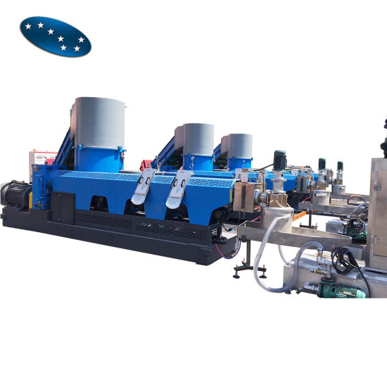PP and PE Waste Plastic Film Recycling Granulator with Compactor