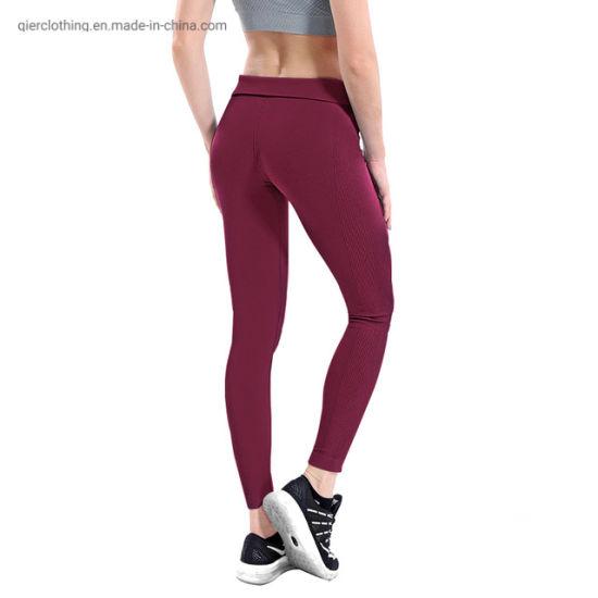 High Elastic Waist Fitness Sport Leggings Tights Slim Quick Drying Training Trousers Women Yoga Pants