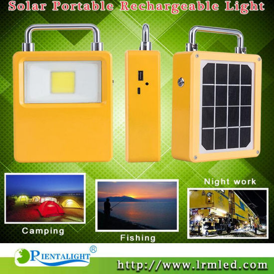 10W 20W Portable Solar LED Rechargeable Camping Temporary Work Outdoor Flood Light pictures & photos