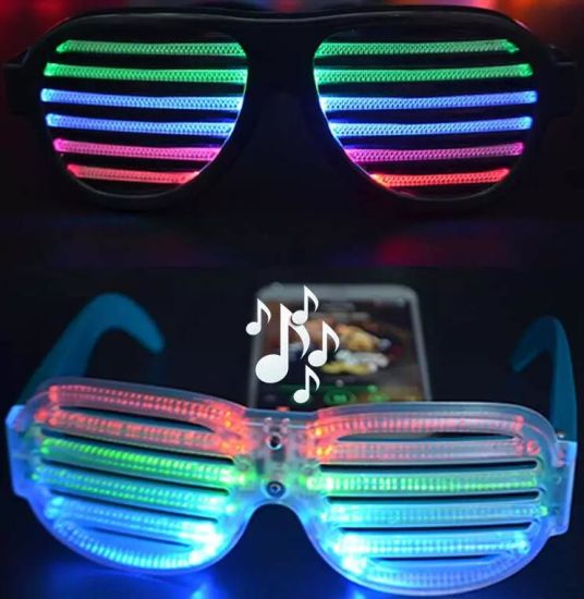 2019 Party Decoration Low Cost Multicolored Unique Neon LED Glow Glasses pictures & photos