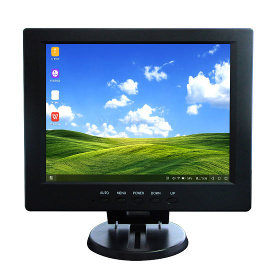 DC12V Square Screen 4: 3 12inch LCD Touch Monitor VGA USB Signal