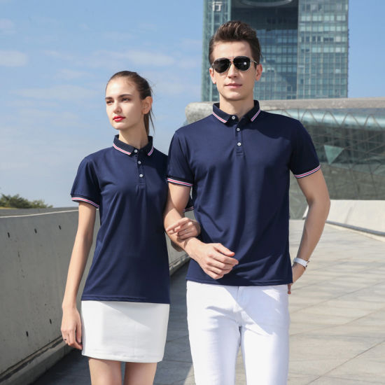 Wholesale Customizable Fashion Outdoor Unisex Polo Shirts for Men and Women Jogging Golf Casual Business Short Sleeve Polo T Shirt