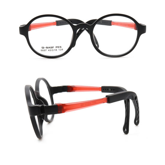 New Model Fashion Design Colorful Kids Spectacles Tr90 Soft Round Optical Eye Glasses Frame Comfortable