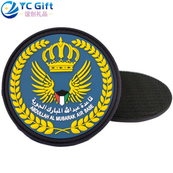 China Factory Custom Mexico Flag Military Police Uniform Tactical Gear PVC Rubber Patch Wholesale Fashion Garment Decoration Denim Jacket Pant Label with Velcro