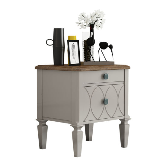 Living Room Bedroom Furniture Two Layers Night-Stand Table Wooden Cabinet