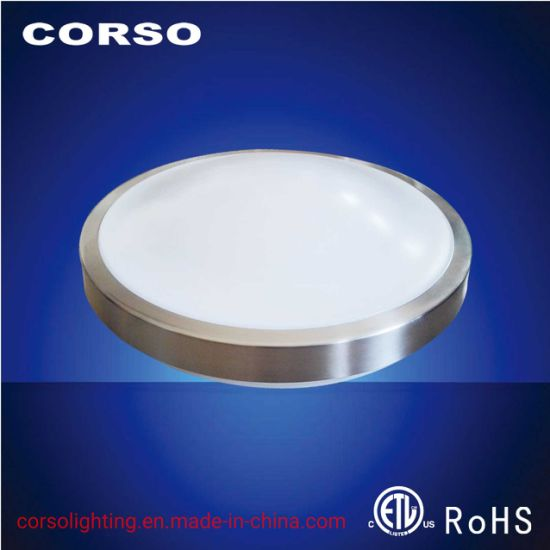Damp Location LED Lighting Microwave Motion Sensor Metal Trim Ceiling Lamp with ETL Standard ISO9001