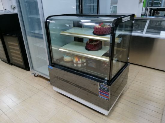 Commercial Dessert Cake Bakery Display Showcase Refrigerator with Front Open Glass Door