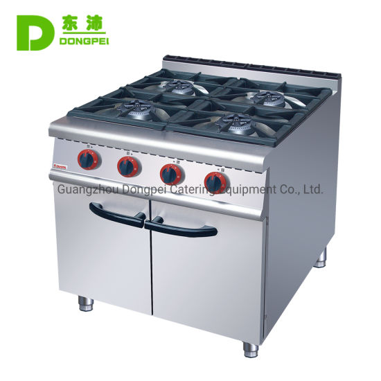 Commercial 4 Burners Gas Range Cooking Stove for Restaurant