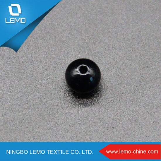Black Color Dyeing 7mm Plastic Pearl ABS Beads for Colthing