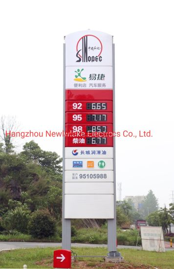 Sign of Gas Prices (10inch in White color)