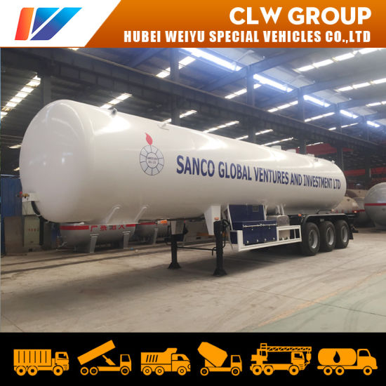 49600liters LPG Road Tanker Trailer 23tons Lp Gas Delivery Tank Truck Trailer