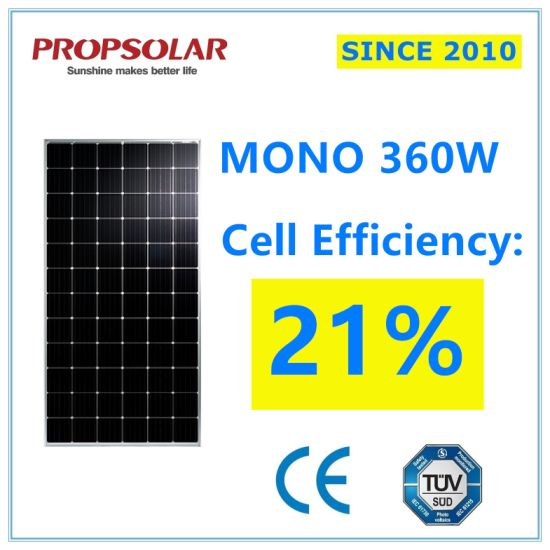 25 Years Warranty High Efficiency Home Solar Power System Monocrystalline 360W Solar Panel
