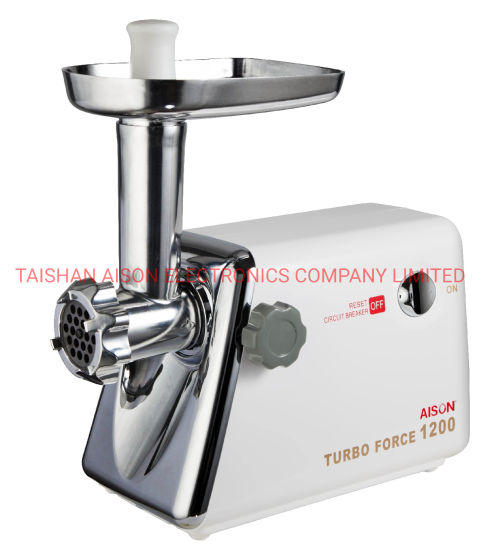 Mg-120 White Color Meat Grinder with Circuit Breaker Metal Tray