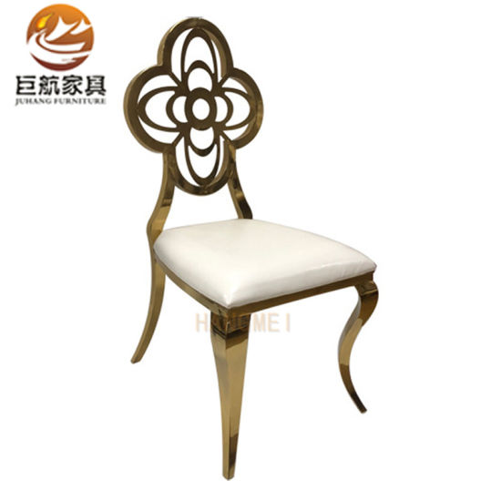 Wedding Event Gold Stainless Steel Chair Wedding Luxury Dining Chair