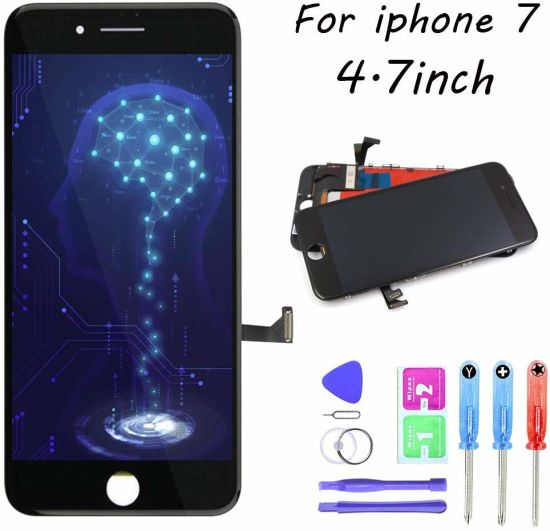 LCD Display - Mobile Phone LCD for iPhone 7 Black 4.7 Inch Touch Screen Digitizer