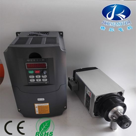 3kw Air-Cooled 220V Air Cooled CNC Router Square Spindle Motor pictures & photos