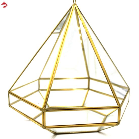China Pyramid Glass Terrarium Decor Box Centerpiece For Wedding