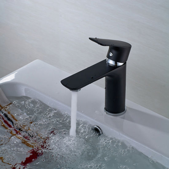 China Flg Spray Paint Black Chrome Finished Waterfall Faucet - China ...