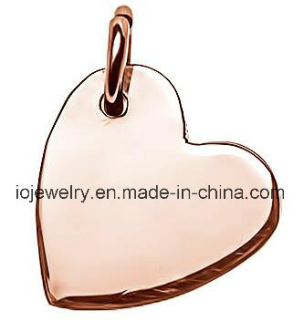 33ba65e93e97 China Custom Plain Logo Tag Sideways Heart Rose Gold Charm - China Charm,  Gold Charm