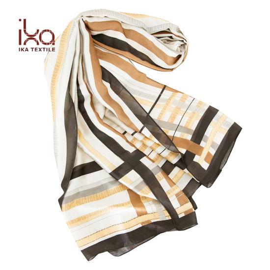 Silky Lightweight Women Wholesale Custom Latest Design Scarf Shawl