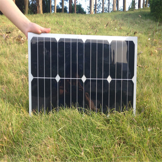 25W Flexible Mono Solar Module Solar Panel for 12V Battery pictures & photos