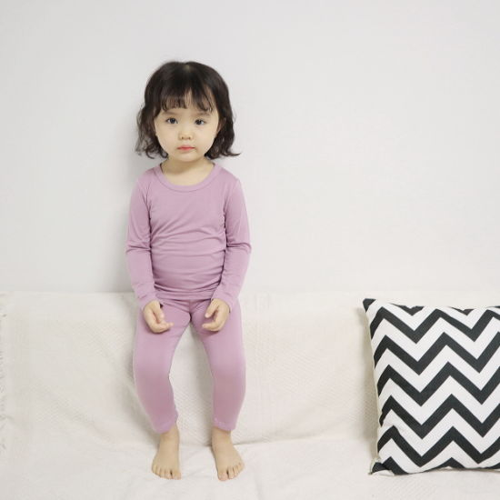 Cotton Children Sleepwear Sets Made in China Long Sleeve Pajamas Suit for Girls
