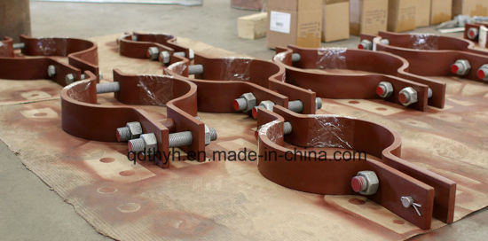 Custom Steel Fabricated Pipe Clamp, Pipe Saddle, Pipe Support Products
