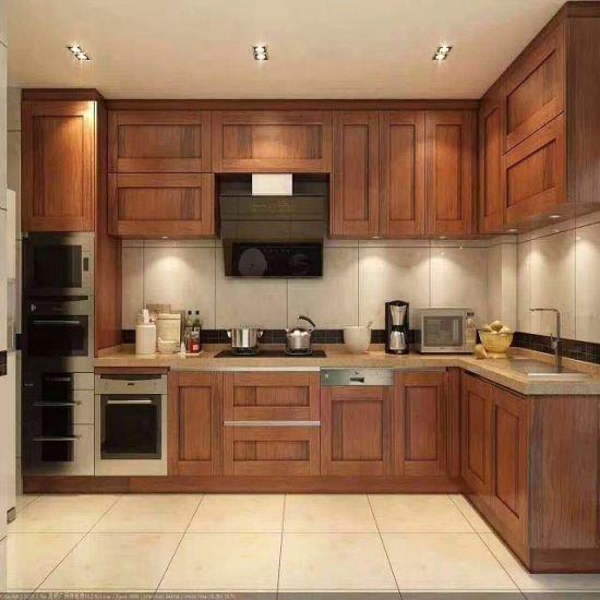 [Hot Item] Simple Design Antique Elegant Kitchen Cabinet