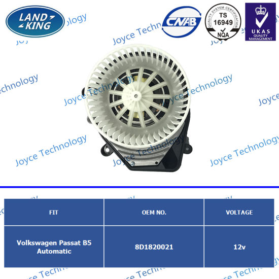 Factory Automobiles Car Electric Blower Fan Motor OE: 8d1820021 for Volkswagen Passat B5 Automatic