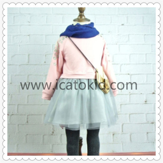 Autumn Korean Style Tutu Dress Cute Fashion Girl Clothing Set for 5 Years Old Girls pictures & photos