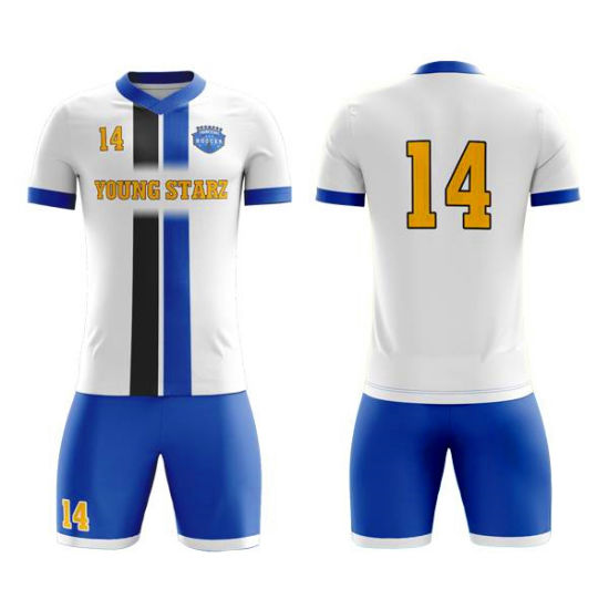Custom Soccer Uniform Latest Design Sublimation Blank Football Jerseys Sportswear Clothing pictures & photos
