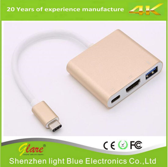 USB 3.1 Type C to HDMI Female Adapter USB C to HDMI Converter pictures & photos