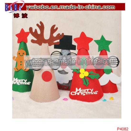 Santa Claus Hat Children Gifts Felt Christmas Cap Party (P4082)