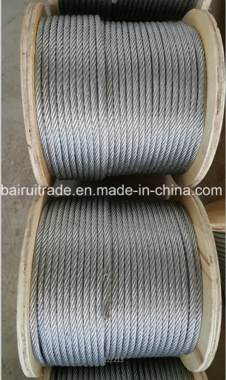 Galvanized Steel Wire Rope Wire Cable for Export pictures & photos