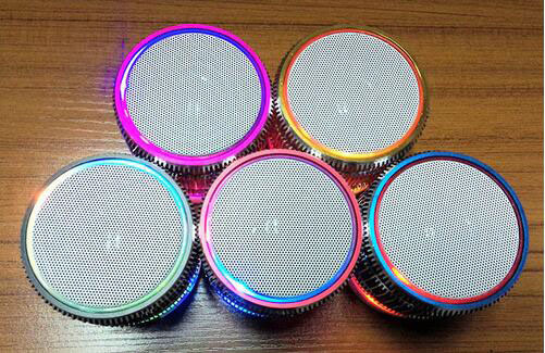 Mobile Computer LED Striped Bluetooth Mini Wireless Car Speakers pictures & photos