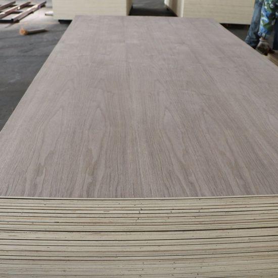 4mm 17mm Black Walnut Veneer Decorative Fancy Furniture Plywood Board with High Quality