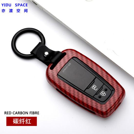 Matt Carbon Fiber Flip Car Key Case Cover Holder Protector Accessories For Honda