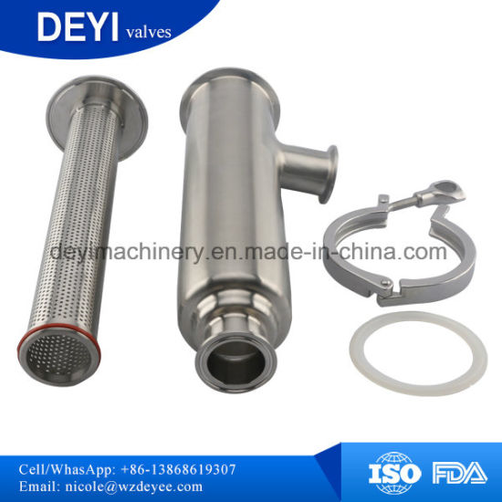 Stainless Steel Sanitary Hygienic Angle-Type Strainer pictures & photos