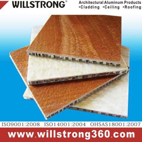 Wooden Texture Aluminum Honeycomb Panel for Outdoor